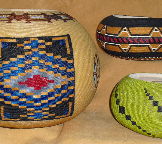 Beaded Gourds